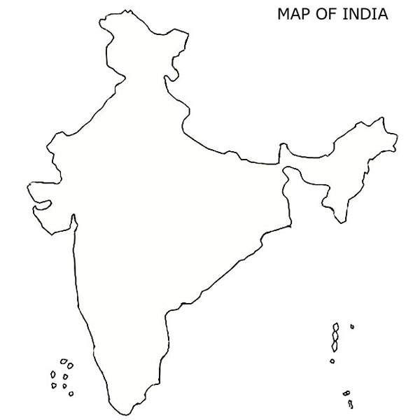 Blank India Map, Free India Map, Download free India Map ...
