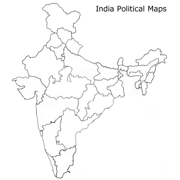 Indian Political Map Outline Blank Political Map Of India, Blank Political Map Of India, Free